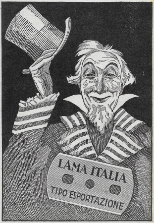 "1929 * Anuncio Original ""Lama Italia - Tipo Esportazione"" en Passepartout"