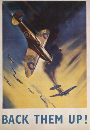 "ND (WWII) * Propaganda de Guerra Reproducción ""Gran Bretagna - Sosteneteli!"" en Passepartout"