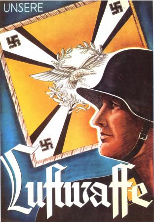 """ND (WWII) * Propaganda de Guerra Reproducción """"Germania - La Nostra Luftwaffe"""" en Passepartout"""