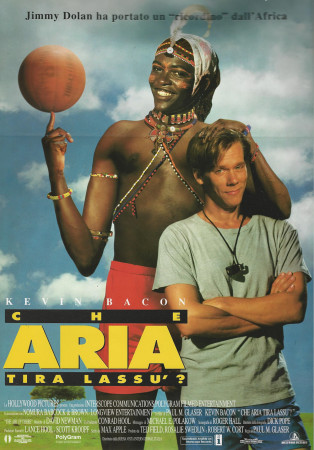 "1994 * Cartel Cinematográfico ""Una Tribu en La Cancha - Kevin Bacon"""