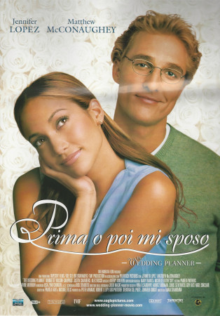"2001 * Cartel Cinematográfico ""Planes De Boda - Jennifer Lopez"""
