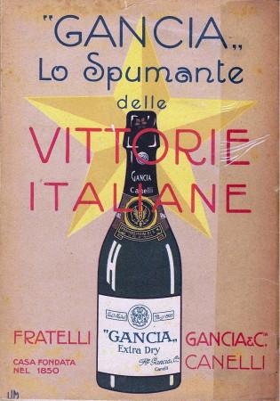 """1917 * Anuncio Original """"Gancia Lo Spumante delle Vittorie Italiane - LIM"""" en Passepartout"""
