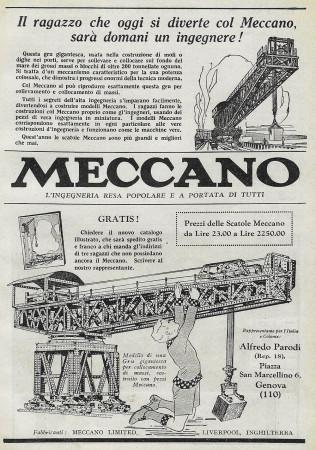 """1928 * Anuncio Original """"Meccano - Gru"""" en Passepartout"""