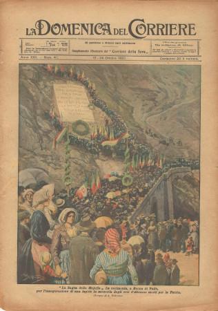 """1920 * La Domenica Del Corriere (N°72) """"Sagra della Majella - Eroi d'Abruzzo"""" Revista Original"""