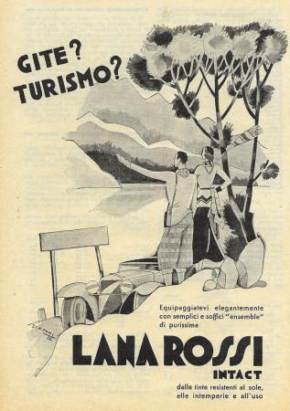 "1932 * Anuncio Original ""Lana Rossi - Intact - SCHIPANI"" en Passepartout"