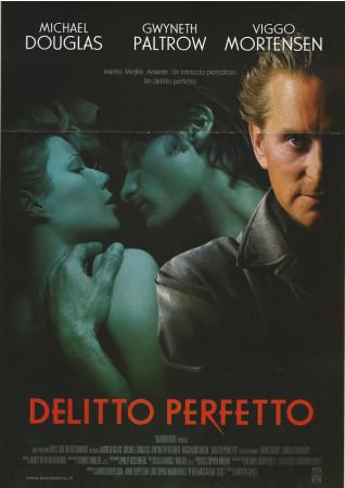 """1998 * Cartel Cinematográfico """"A Perfect Murder - Michael Douglas"""""""