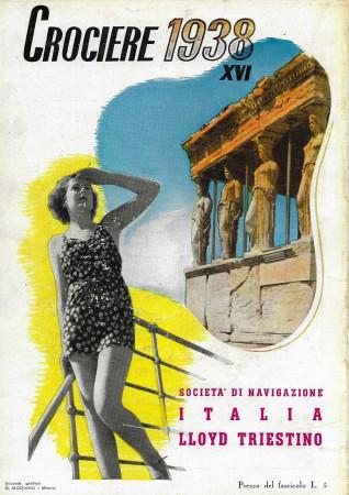 """1938 * Anuncio Original """"Lloyd Triestino - Crociere 1938 XVI"""" en Passepartout"""