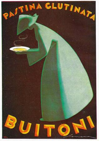 "1928 * Anuncio Original ""Buitoni - Pastina Glutinata - SENECA"" Color en Passepartout"