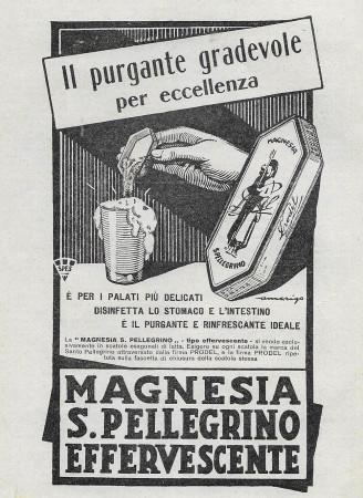 "1929 * Anuncio Original ""Magnesia San Pellegrino - Il Purgante Gradevole"" en Passepartout"