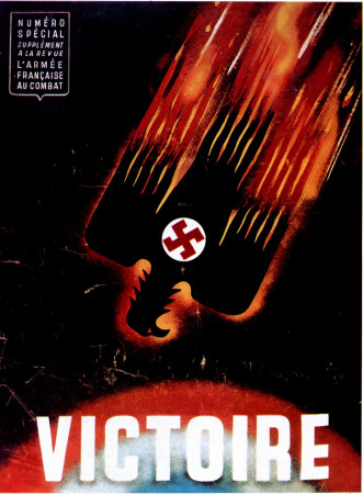 """ND (WWII) * Propaganda de Guerra Reproducción """"Governo Di Vichy - Vittoria"""" en Passepartout"""