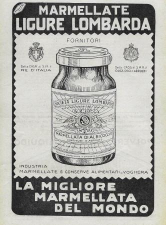 """1929 * Anuncio Original """"Marmellate Ligure Lombarda - La Migliore del Mondo"""" en Passepartout"""