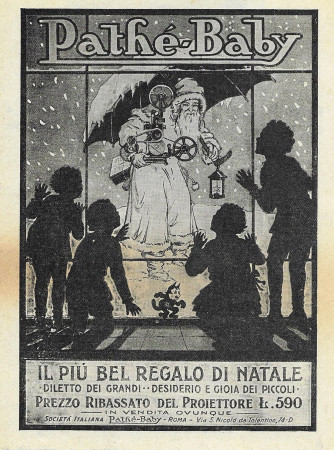 "1928 * Anuncio Original ""Pathè-Baby - Il Più Bel Regalo Di Natale"" en Passepartout"