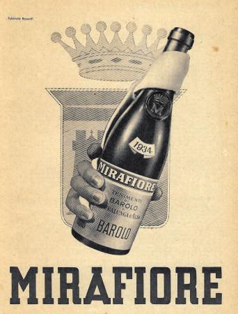 """1949 * Anuncio Original """"Barolo - Mirafiore (1934) - RICCIARDI"""" en Passepartout"""
