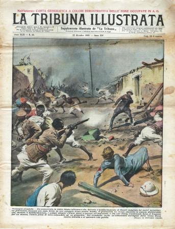 "1935 * Revista Histórica Original ""La Tribuna Illustrata (N°51) - Menzogne Etiopiche"""