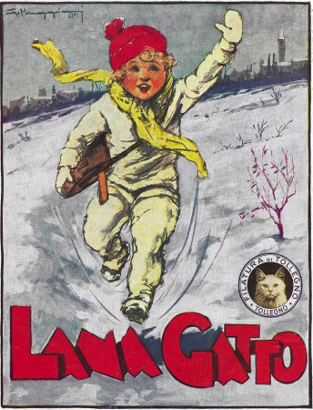 "1933 * Anuncio Original ""Lana Gatta - MUGGIANI"" en Passepartout"