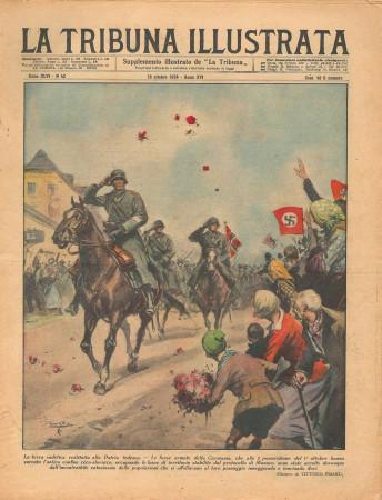 """1938 * La Tribuna Illustrata (N°42) – """"Protocollo di Monaco - Incidente in Uganda"""" Revista Original"""