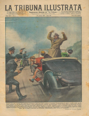 """1937 * Revista Histórica Original """"La Tribuna Illustrata (N°5) - Poliziotti Salvano Fanciulle Rapite"""""""