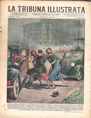 """1935 * Revista Histórica Original """"La Tribuna Illustrata (N°26) - Rapina e Beneficenza Chicagoane!"""""""