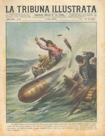"1931 * Revista Histórica Original ""La Tribuna Illustrata (N°24) - Siluro Urta Una Barca"""