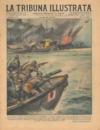 """1938 * La Tribuna Illustrata (N°45) – """"Conquista di Canton - Tazio Nuvolari"""" Revista Original"""