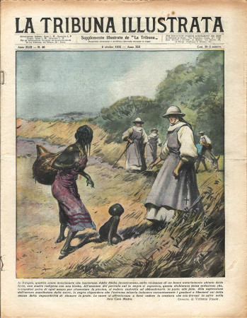 "1935 * Revista Histórica Original ""La Tribuna Illustrata (N°40) - Missionarie Salvano Bambino Etiope"""