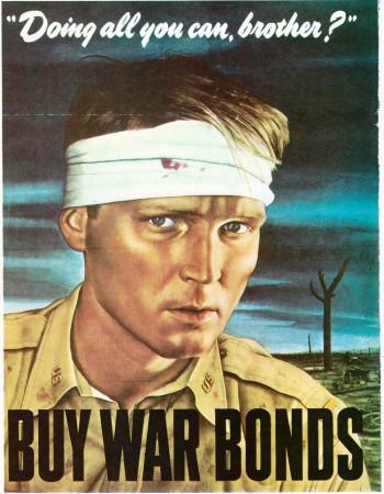 """ND (WWII) * Propaganda de Guerra Reproducción """"USA - Acquista Buoni Di Guerra"""" en Passepartout"""