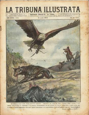 """1930 * Revista Histórica Original """"La Tribuna Illustrata (N°52) - Caccia Al Lupo in Asia Centrale"""""""