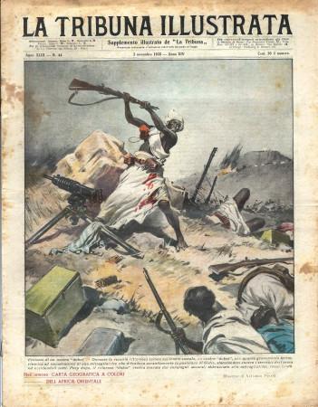 "1935 * Revista Histórica Original ""La Tribuna Illustrata (N°44) - Eroismo di Un Nostro Dubat"""