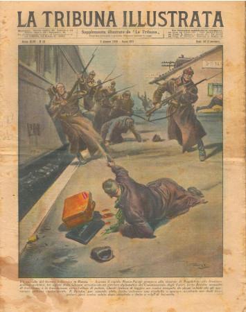 """1938 * La Tribuna Illustrata (N°23) – """"Terrore Bolscevico - Safari Colonnello Edel"""" Revista Original"""