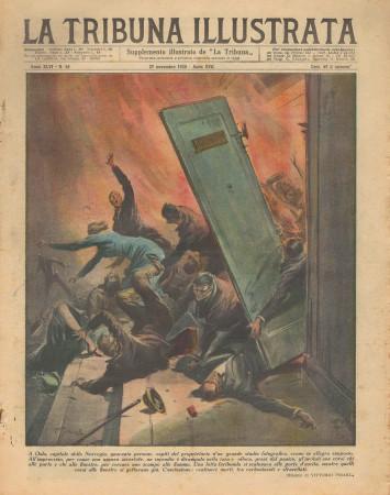 "1938 * La Tribuna Illustrata (N°48) – ""Incendio a Oslo - Naufraghi a Ceylon"" Revista Original"