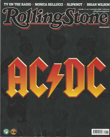 "2008 (N61) * Portada de Revista Rolling Stone Original ""AC/DC"" en Passepartout"
