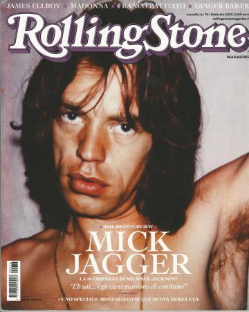 "2010 (N76) * Portada de Revista Rolling Stone Original ""Mick Jagger"" en Passepartout"