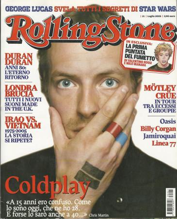 "2005 (N21) * Portada de Revista Rolling Stone Original ""Coldplay"" en Passepartout"