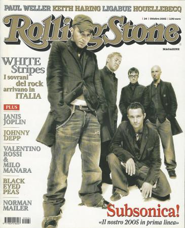 "2005 (N24) * Portada de Revista Rolling Stone Original ""Subsonica"" en Passepartout"