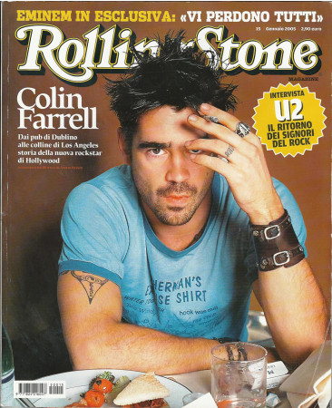 """2005 (N15) * Portada de Revista Rolling Stone Original """"Colin Farrell"""" en Passepartout"""