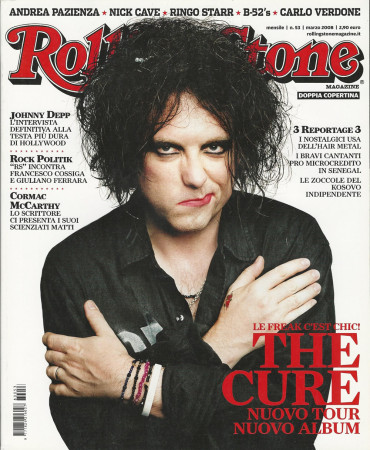 "2008 (N53) * Portada de Revista Rolling Stone Original ""The Cure"" en Passepartout"