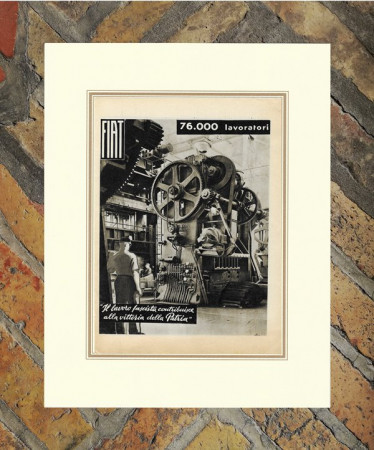"1942 * Anuncio Original ""Fiat - Propaganda Fascista"" en Passepartout"