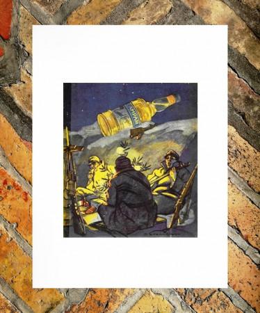 """1915 * Anuncio Original """"Campari Cordial - DUDOVICH MARCELLO"""" en Passepartout"""