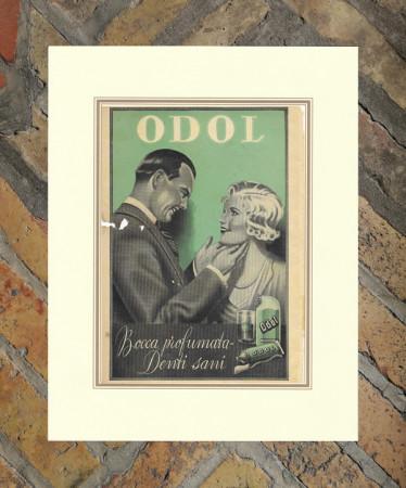 """1937 * Anuncio Original """"Pasta Dentífrica ODOL"""" en Passepartout"""