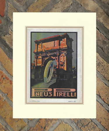"1921 * Anuncio Original ""Pirelli - Arco Pace"" en Passepartout"