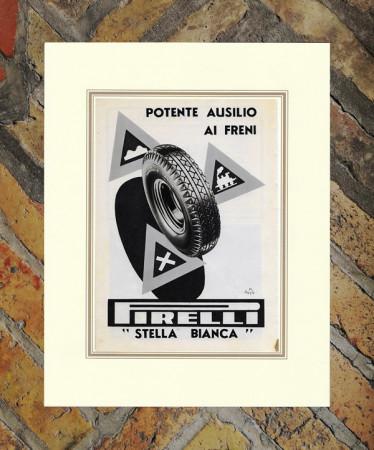 "1938 * Anuncio Original ""Pirelli - Stella Bianca - DUSE MARIO"" en Passepartout"