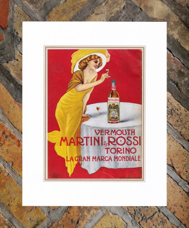 "1914 * Anuncio Original ""Martini - Vermouth - MARCELLO DUDOVICH"" en Passepartout"