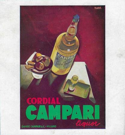 "1928-32 * Anuncio Original ""Cordial Campari Liquor - NIZZOLI"" en Passepartout"
