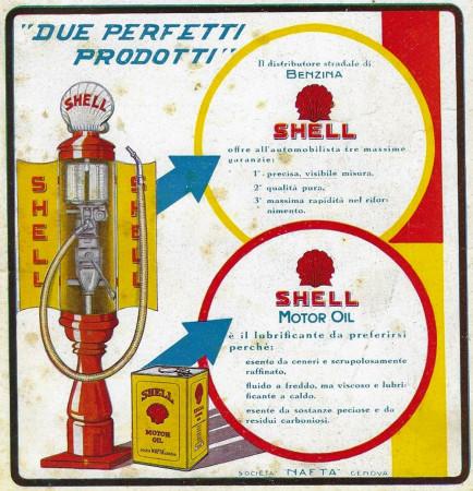 """1928 * Anuncio Original """"Shell - Due Prodotti Perfetti"""" en Passepartout"""