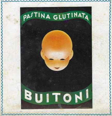 "1929 * Anuncio Original ""Buitoni - Pastina Glutinata - SENECA"" Color en Passepartout"