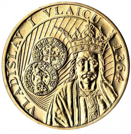 """2014 * 50 Bani Rumania """"650 Reinado de Vladislav I de Valaquia"""""""