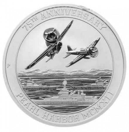 "2016 * 1 Dollar Plata 1 OZ Tuvalu ""Pearl Harbor"" FDC"