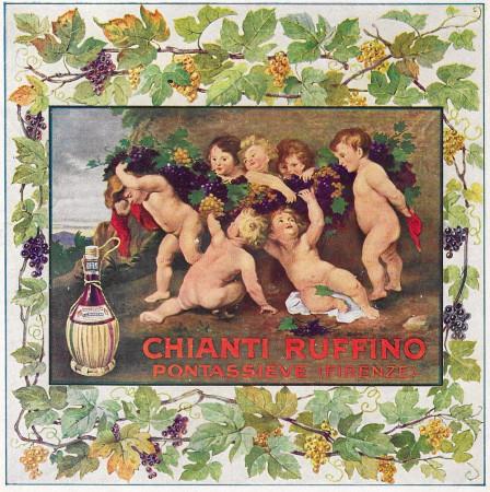 "1929 * Anuncio Original ""Chianti Ruffino - Pontassieve"" en Passepartout"