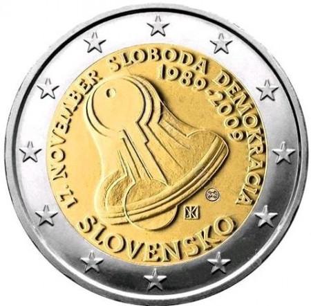 2009 * 2 euro ESLOVAQUIA revolución de terciopelo
