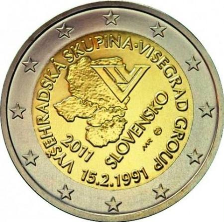 2011 * 2 euro ESLOVAQUIA Acuerdo de Visegrado